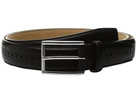 Cole Haan 32Mm Stitched Edge Belt With Perforated And Hand Burnished Detail Black Men's Belts