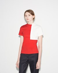 Jacquemus Le T Shirt Col Carre Red White