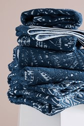 Anthropologie Alayna Towel Collection Dark Turquoise