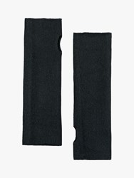 Hush Cashmere Fingerless Gloves Black