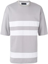 Diesel Black Gold Oversized Striped T Shirt Nude Neutrals