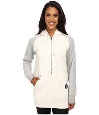 New Balance Essentials 1 2 Zip Hoodie Sea Salt Heather Women's Sweatshirt White
