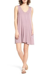 Socialite Women's Pocket Tank Dress Lilac