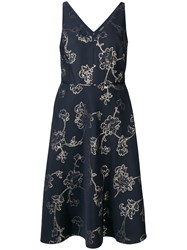 Lauren Ralph Lauren Yoly Midi Dress Blue