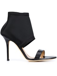 Alexa Wagner 'Cyansis' Heeled Sandals Black
