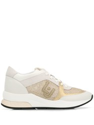 Liu Jo Panelled Lace Up Sneakers White