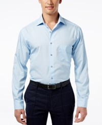 Alfani Men's Fitted Performance Dress Shirt Only At Macy's Light Blue