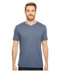 Prana R V Neck Tee Denim Heather Short Sleeve Pullover Blue