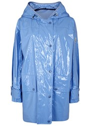 Moncler Navet Light Blue Patent Raincoat
