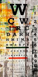 Parvez Taj Eye Chart On White Barn Black Cream Orange