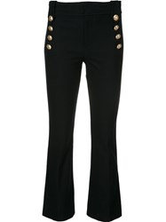 Derek Lam 10 Crosby Buttoned High Waisted Trousers Blue