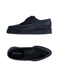 Underground Footwear Lace Up Shoes Black