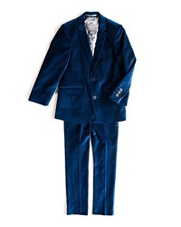 Appaman Mod Velvet Two Piece Suit Size 2T 14 Blue