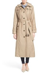 London Fog Women's Fog London Long Trench Raincoat With Hood