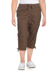 Calvin Klein Performance Plus Cropped Cargo Pants Brown