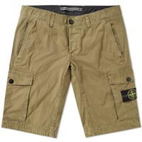Stone Island Garment Dyed Cargo Short Green