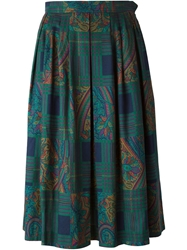 Yves Saint Laurent Vintage Mid Length Skirt Green