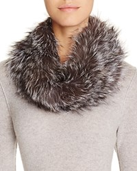 Surell Fox Fur Infinity Loop Scarf Blue Frost