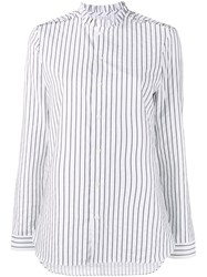 Marie Marot 'Diana' Striped Blouse White