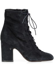 Laurence Dacade 'Milly Velvet' Ankle Boots Blue