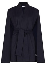 Finders Keepers Best Kind Navy Slubbed Crepe Cape