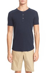 Men's Wings Horns 'Base' Short Sleeve Henley Navy