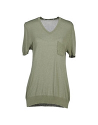 Relive Short Sleeve Sweaters Military Green