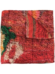 Pierre Louis Mascia Silk Padded Scarf Red