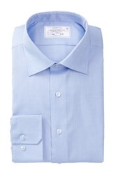 Lorenzo Uomo Long Sleeve Trim Fit Perfect Blue Dress Shirt