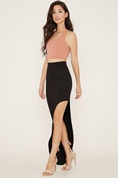 Forever 21 Asymmetrical Maxi Skirt Black