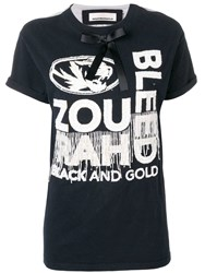 Night Market Bow Embellished T Shirt Blue
