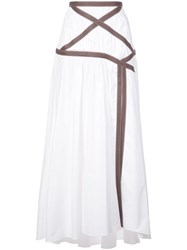 Rosie Assoulin Applesauce Criss Cross Maxi Skirt White