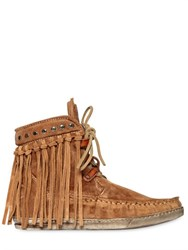 El Vaquero 20Mm Fringed Suede Ankle Boots