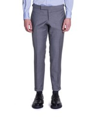 Thom Browne Super 120S Plain Weave Wool Trousers Grey