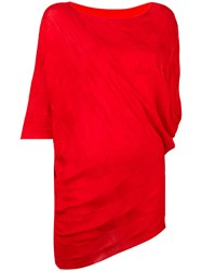 Issey Miyake Woven Jumper Red