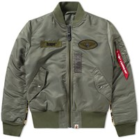 A Bathing Ape 1St Camo Alpha Ma 1 Jacket Green