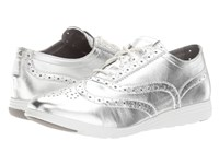 Cole Haan Grand Tour Oxford Argento Metallic Silver Women's Lace Up Casual Shoes