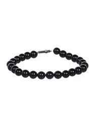 Simon Carter Onyx Bead And Cross Bracelet Black
