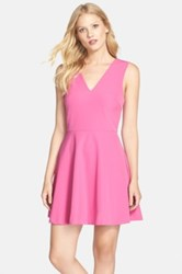 Felicity And Coco Back Cutout Fit And Flare Dress Orange