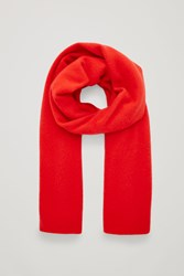Cos Cashmere Scarf Red