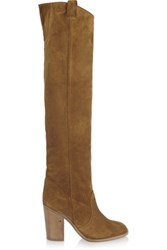 Laurence Dacade Silas Suede Over The Knee Boots Tan