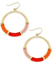 Kate Spade New York That's A Wrap Gold Tone Beaded Hoop Earrings