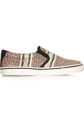 Dkny Beth Printed Snake Effect Leather Sneakers Pink