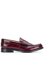 Church's Low Heel Classic Loafers Red