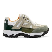 Maison Martin Margiela Tan And White Security Sneakers