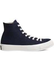 Converse All Star 70 Woven Canvas And Suede High Top Trainers Obsidian Egret