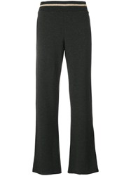 Majestic Filatures Wide Leg Trousers Spandex Elastane Viscose Iv Grey