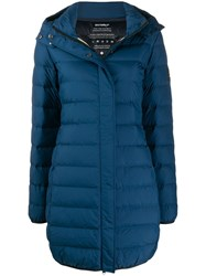 Ecoalf Hooded Down Coat Blue