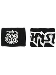 Hysteric Glamour Logo Patch Sweat Bands Black