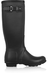 Hunter Ribbed Leg Wellington Boots Black